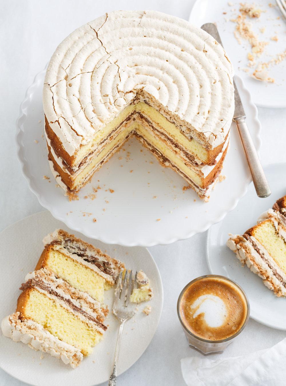 Gâteau croquant aux amandes, au chocolat et au café | ricardo