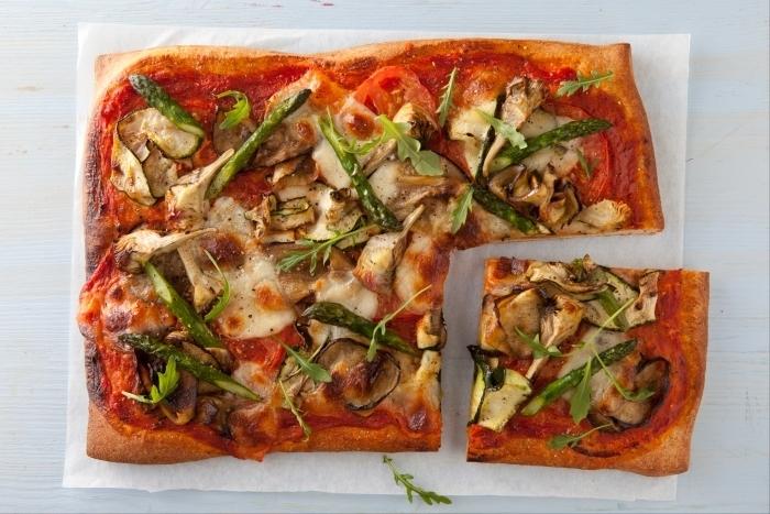 Recette de pizza végétarienne facile et rapide