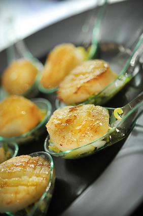 Recette de noix de saint-jacques au vinaigre de mandarine