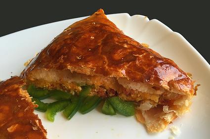 Recette de feuilleté omelette  chorizo