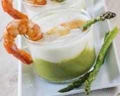 Recette mousseline d'asperges et crème mascarpone