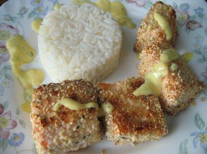 Recette de croustillant de saumon au sésame