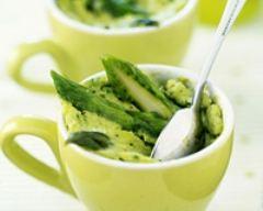 Recette petits flans d'asperges vertes