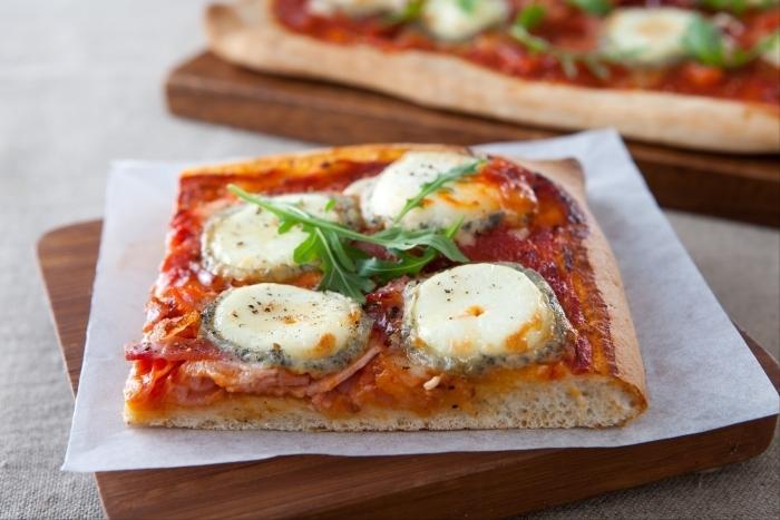 Recette de pizza chèvre et miel facile et rapide