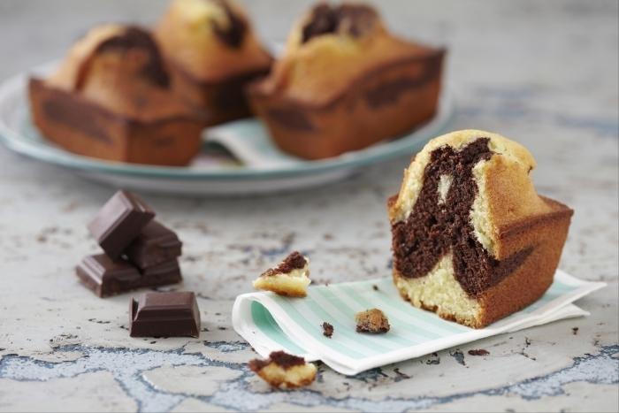 Recette de cake marbré au chocolat facile et rapide