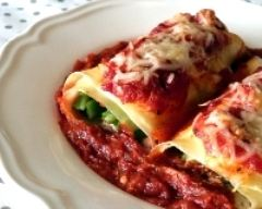 Recette cannelloni aux haricots verts et à la ricotta