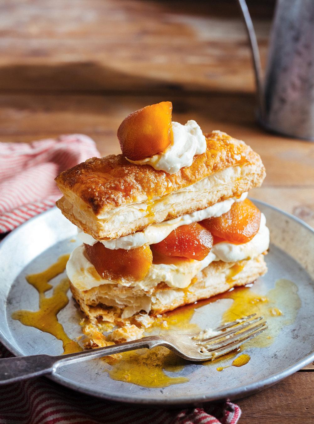 Feuilletés aux pommes caramélisées et crème au mascarpone ...