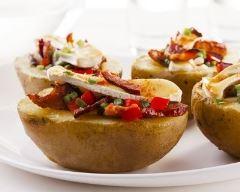 Recette pomme de terre farcie au bacon et camembert