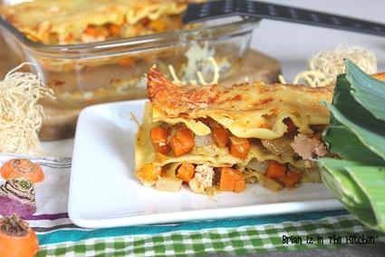 Recette de lasagnes saumon et julienne de carottes, navets et ...