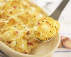 Recette gratin de pommes de terre au chèvre frais
