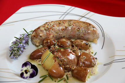 Recette andouillette au vin blanc sauce moutarde à l'ancienne