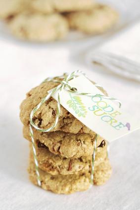 Recette de cookies aux flocons d'avoine, amandes et raisins secs ...