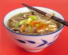 Recette soupe orientale au boeuf et légumes pauvre en sel