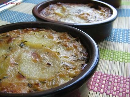 Recette de gratin de pommes de terre au roquefort