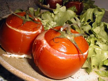 Recette de tomates à l'œuf et au chèvre