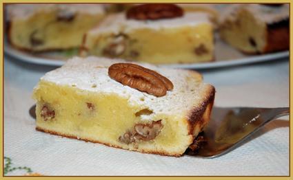 Recette de brownie au chocolat blanc et noix de pécan
