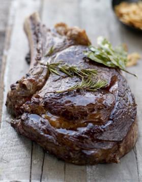 Recette de basse c te grill e et potatoes rapide recette - Duree cuisson cote de boeuf ...