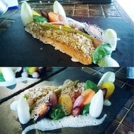 Recette de pavé de saumon coustillant avec ses légumes et son ...