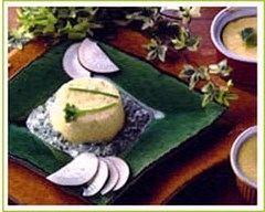 Recette flan de radis noir sauce persil