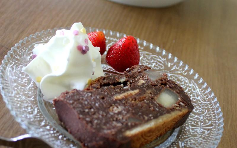 Recette terrine aux galettes st michel, poires et chocolat ...