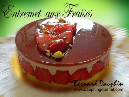 Recette entremet aux fraises