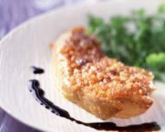 Recette foie gras poêlé en croûte de pain d'épices