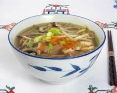 Recette soupe orientale au poulet et légumes pauvre en sel
