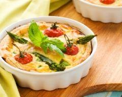 Recette clafoutis aux asperges et tomates cerise