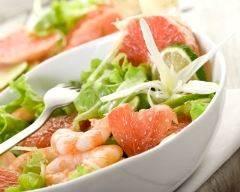 Salade aux crevettes et pamplemousse allégée | cuisine az