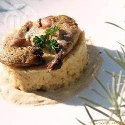 Recette cuisses de caille, purée de céleri, crème de foie gras aux ...