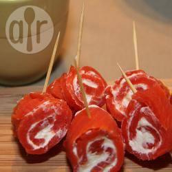 Recette roulés de saumon fumé à la crème fraîche – toutes les ...
