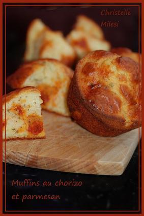 Recette de muffins au chorizo et parmesan