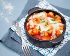 Recette petits gratins de gnocchi, tomate et mozzarella
