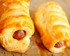 Recette croissants aux saucisses