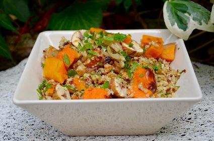 Recette de salade gourmande de quinoa au potimarron