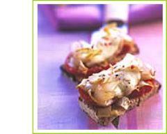 Recette tartine endive, tomate et mozzarella