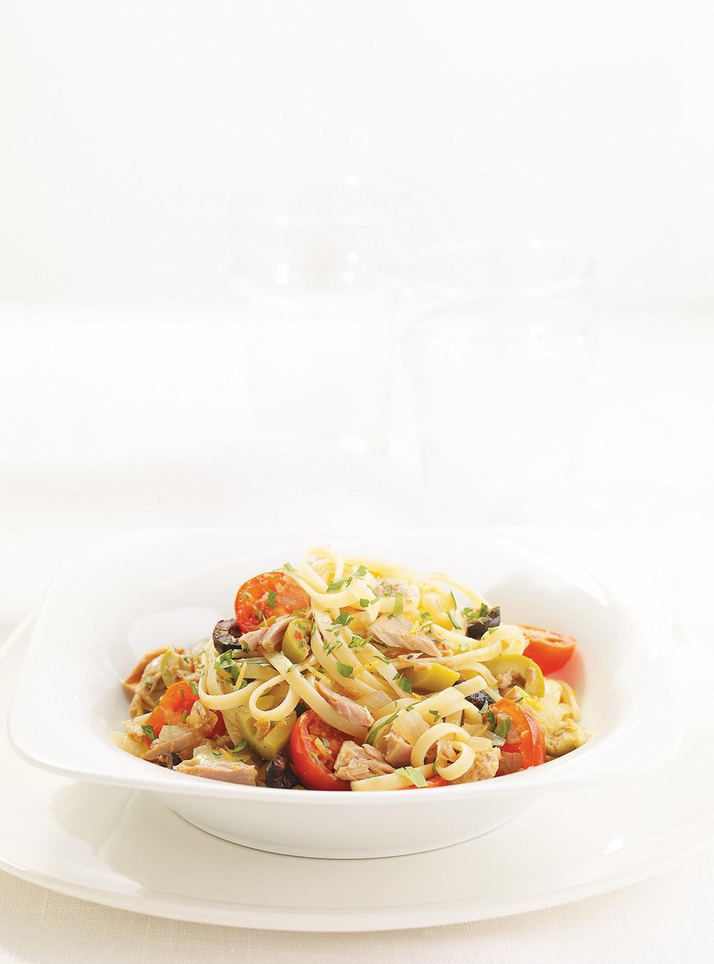 Linguines au thon et aux olives | ricardo