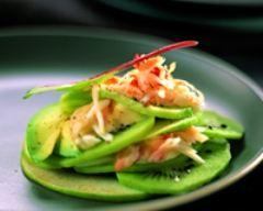 Recette salade acidulée de kiwi au crabe