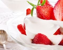 Recette fraises à la crème fouettée