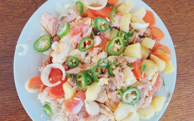 Recette riz malaisien au saumon économique > cuisine étudiant
