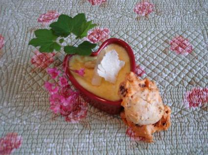 Recette de crème brûlée asperges-parmesan et mini-cakes chorizo ...