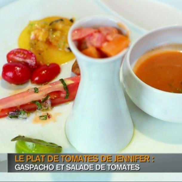Recette gaspacho de tomates avec trois vinaigrettes