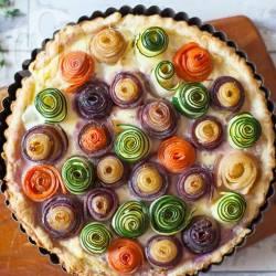 Recette tarte aux légumes en fleurs – toutes les recettes allrecipes
