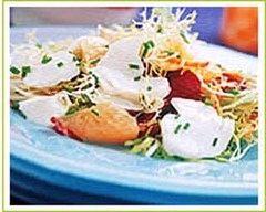 Recette salade de cabillaud au pamplemousse