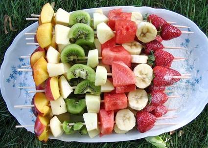 Recette de brochettes de fruits frais