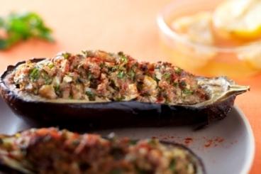 Recette de aubergine farcie façon kefta d'agneau facile et rapide