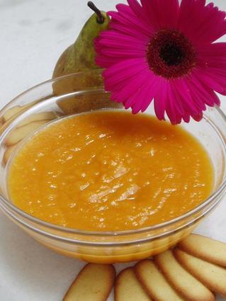 Recette de compote de poires et abricots au miel
