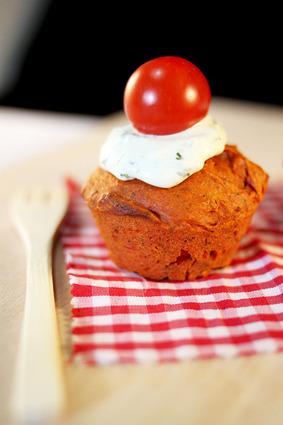 Recette de cupcake tomate basilic