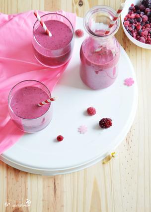 Recette smoothie aux fruits rouges (milk shake)