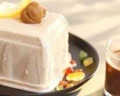 Recette cake glacé aux marrons et sa sauce au chocolat